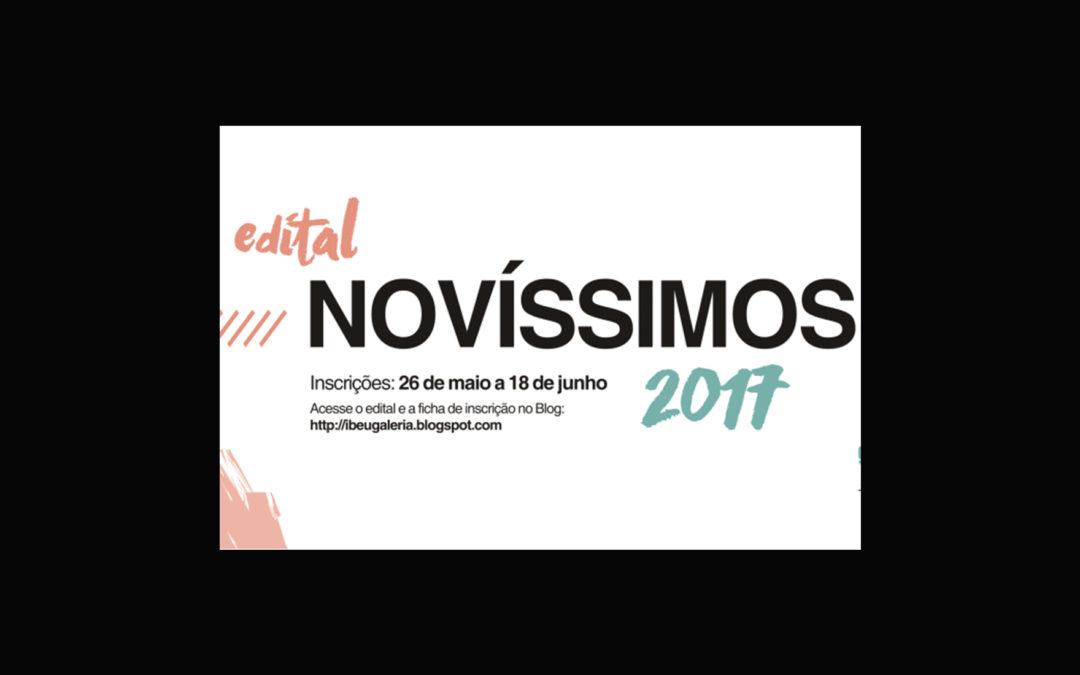 Edital – NOVÍSSIMOS  Artes Visuais 2017